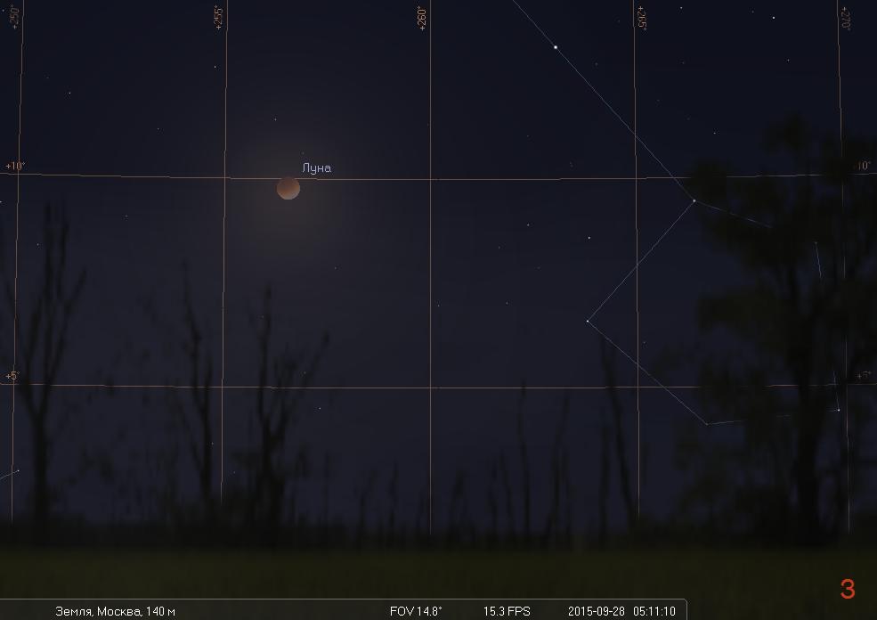 Полное лунное затмение ранним утром 28 сентября - 6
