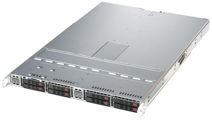 Сервер Supermicro 1U TwinPro SuperServer характеризуется полной избыточностью