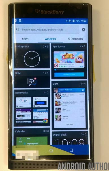 Смартфон BlackBerry Venice запечатлён на видео