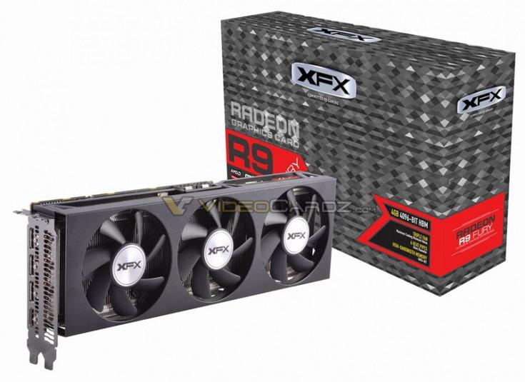 Данных о частотах GPU и памяти 3D-карты XFX R9 Fury пока нет