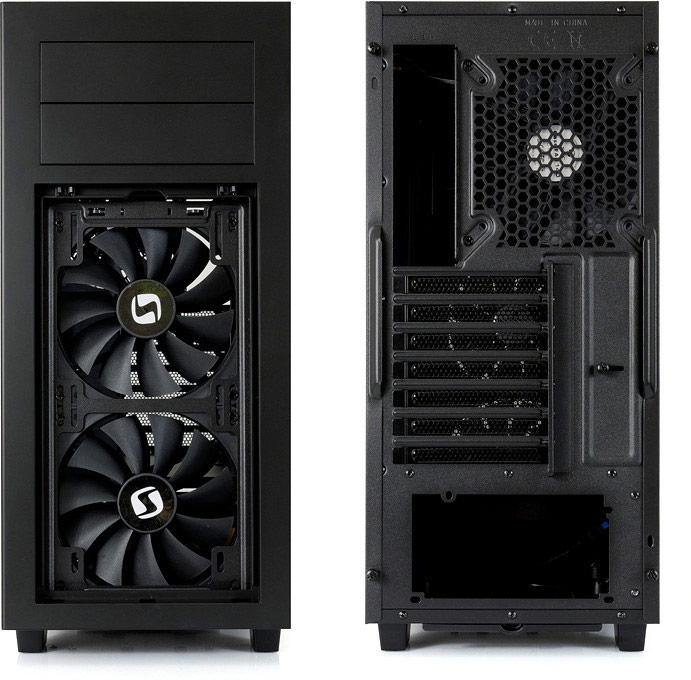 Корпус для ПК SilentiumPC Aquarius M60W Pure Black рассчитан на системные платы типоразмера microATX и ATX