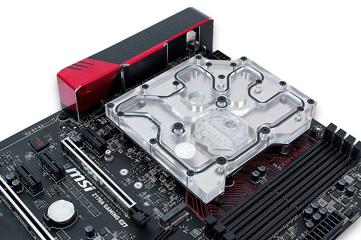 Водоблок EK Water Blocks EK-FB Z170G рассчитан на системную плату MSI Z170A Gaming M7