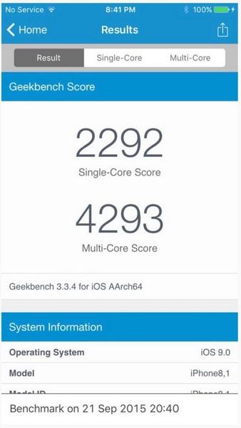 Производительность SoC Apple A9 очень высока
