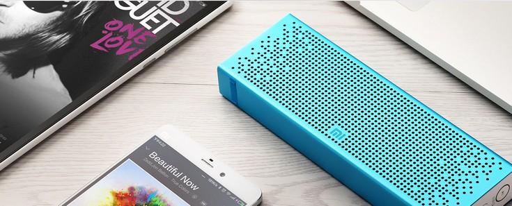 Портативная колонка Xiaomi Mi Bluetooth Speaker работает автомномно до восьми часов