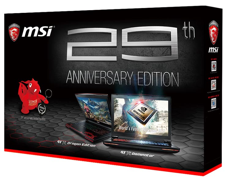 В конфигурацию ноутбука MSI GT72S 6QF Dominator Pro G входит 3D-карта GeForce GTX 980