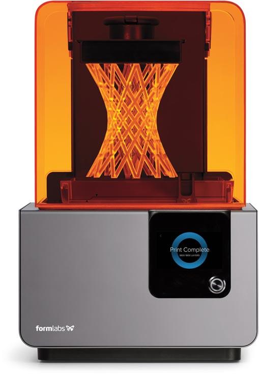 3D-принтер Formlabs Form 2 оснащен интерфейсом Wi-Fi и цветным сенсорным экраном