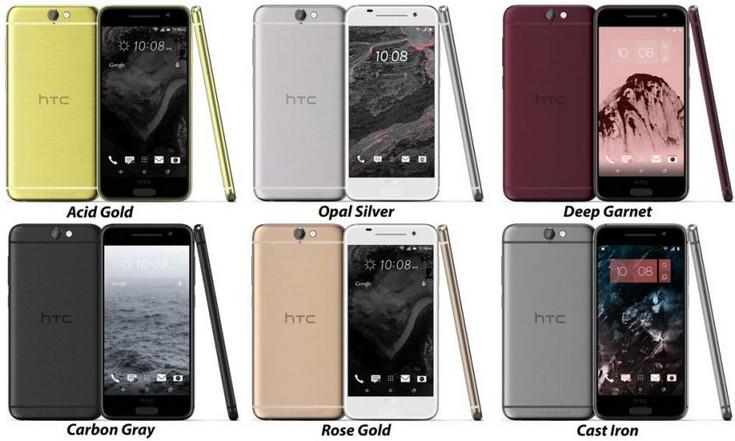 Смартфон HTC A9 будет доступен в шести цветовых вариантах