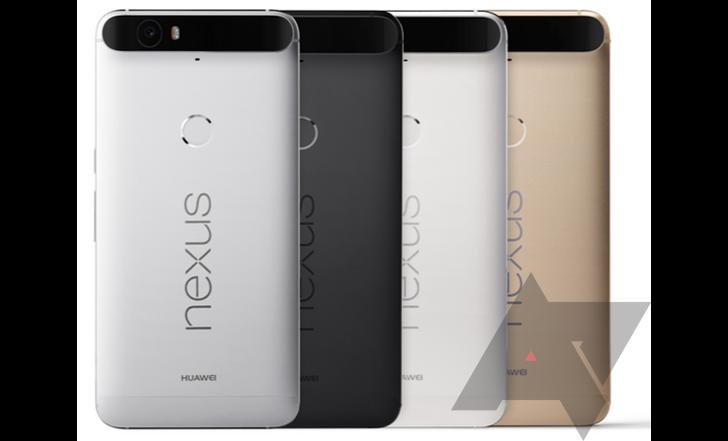 Смартфоны Nexus 5X и Nexus 6P будут доступны в трёх и четырёх цветовых вариантах соответственно