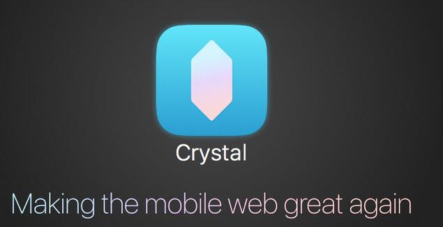 Многие компании  получили возможность за определенную сумму демонстрировать рекламу своих товаров даже на тех iOS-устройствах, которые используют приложение Crystal
