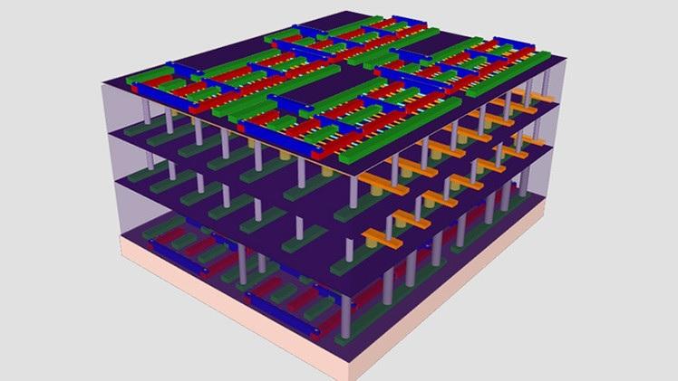 3D микрочип, в 1000 раз быстрее существующих - 1
