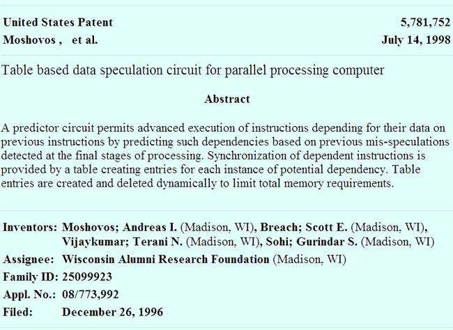 В новом иске фигурирует тот же самый патент №5781752, что и в исходном иске