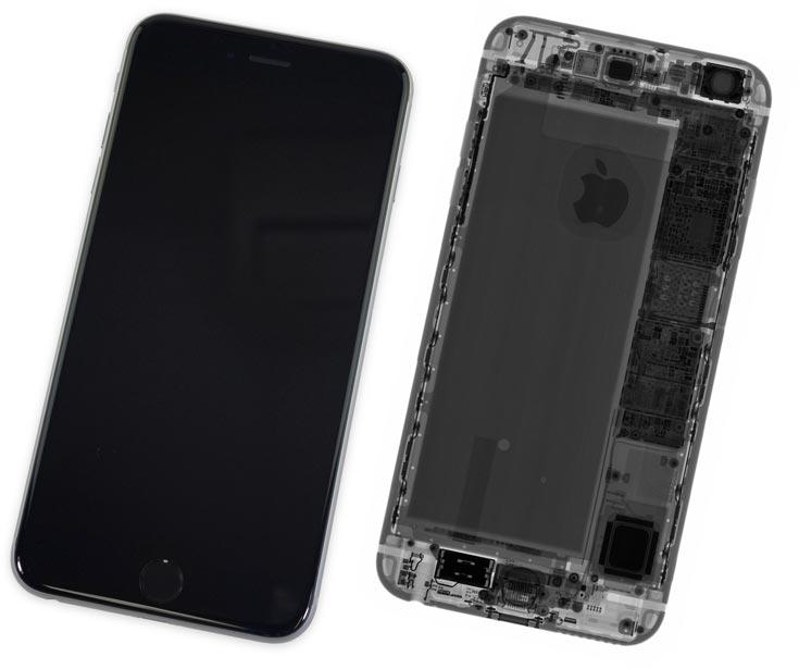 По итогам разборки Apple iPhone 6s Plus получил 7 из 10 баллов