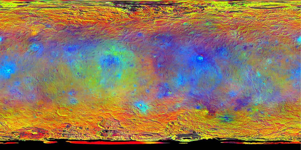 Церера продолжает удивлять ученых: неправильная геометрия кратеров и электромагнитные вспышки - 1