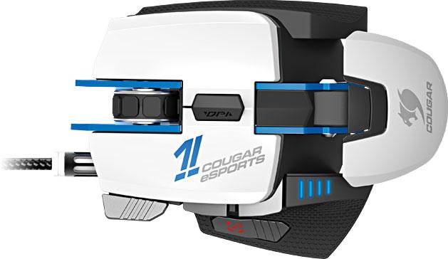 В мыши Cougar 700M eSports используется датчик разрешением 8200 точек на дюйм