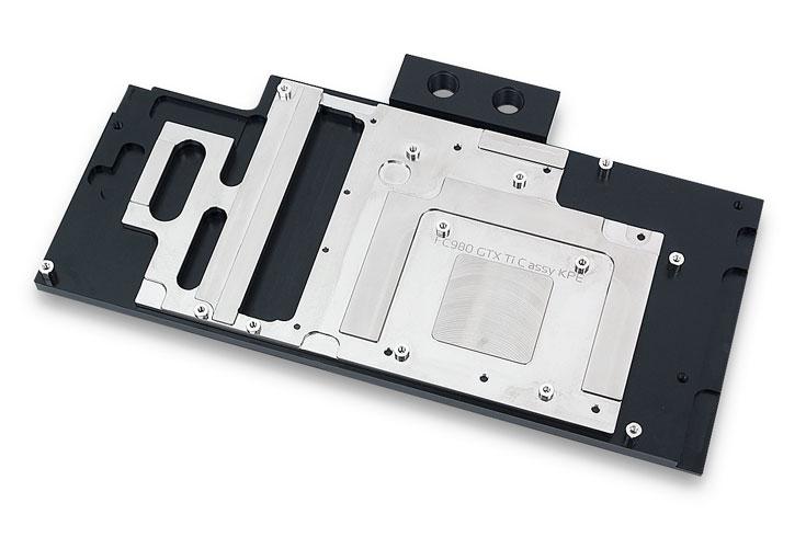 Основание водоблока EK-FC980 GTX Ti Classy KPE изготовлено из меди и никелировано