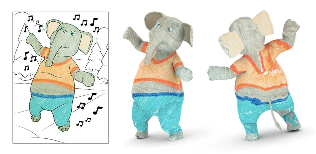 Приложение от Disney Research превращает двумерные рисунки в 3D модели - 1