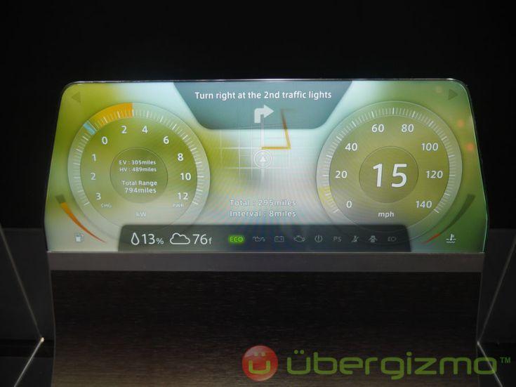 Sharp показала новые виды дисплеев Free Form Display