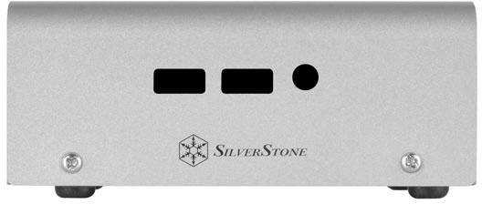 Размеры корпуса SilverStone Petit PT20 для мини-ПК Intel NUC — 125 x 110 x 50 мм