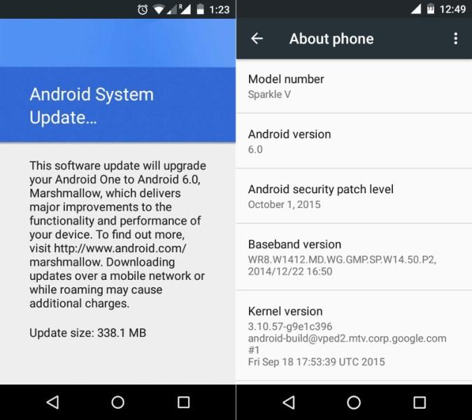 Даже самые примитивные смартфоны Android One получают обновление до Android 6.0