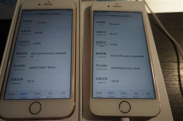 Смартфоны iPhone 6s с платформами Samsung греются сильнее, чем с SoC TSMC