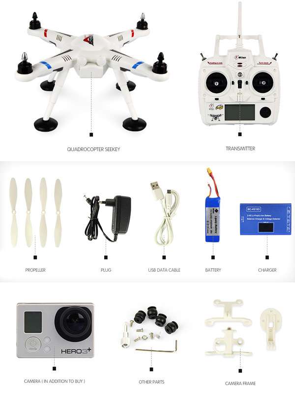 Квадрокоптер для GoPro глазами девушки — Wltoys v303 - 8