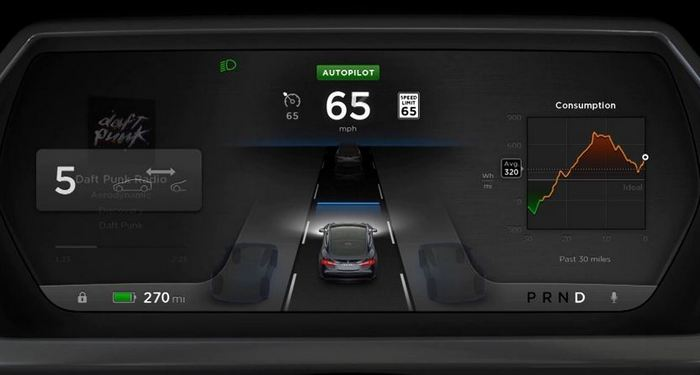 15 октября будет выпущено очередное крупное обновление прошивки электромобиля Tesla Model S