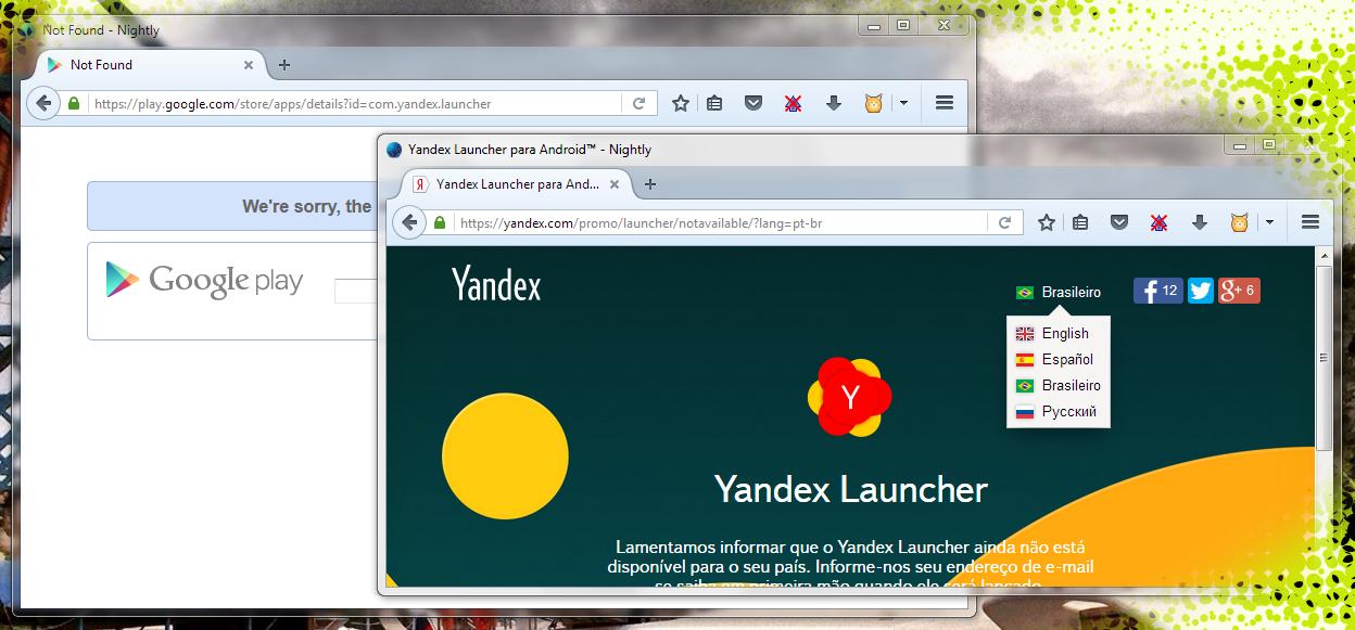 Yandex Launcher closed, Латиноамериканский Yandex Launcher пропал — из Google Play и со своей домашней страницы