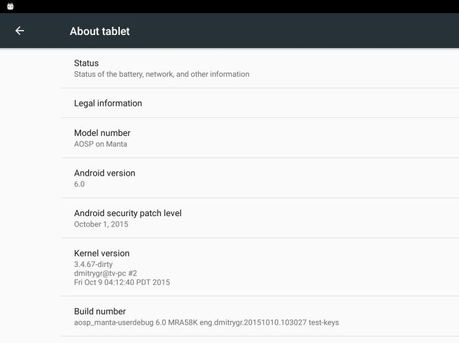 Android 6.0 портировали на Nexus 10, Nexus 7 (2012) - 2