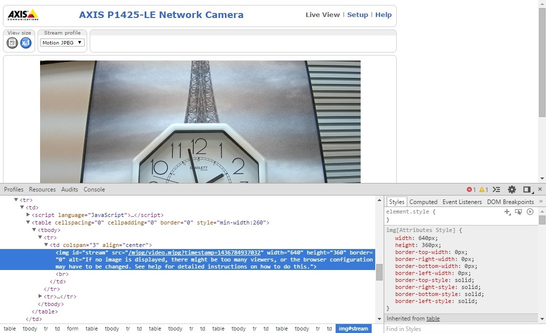 Добавление потока от IP-камеры на свой сайт - 3