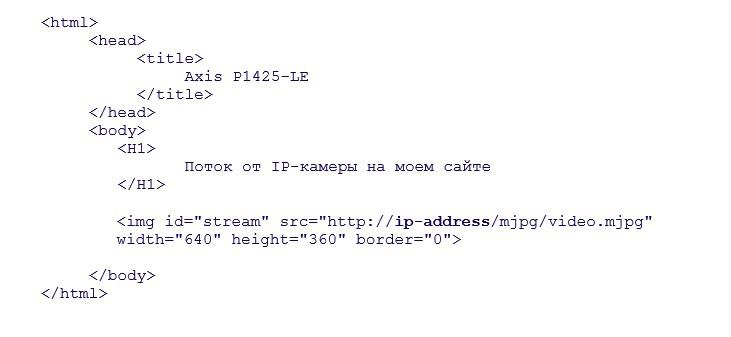 Добавление потока от IP-камеры на свой сайт - 4