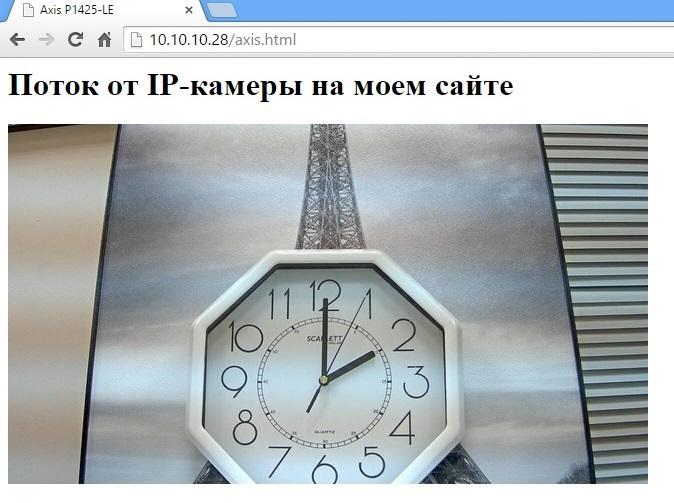 Добавление потока от IP-камеры на свой сайт - 5