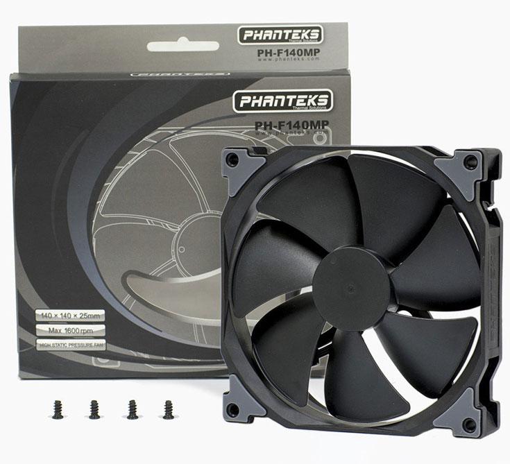 В серию Phanteks SP вошли корпусные вентиляторы типоразмера 120, 140 и 200 мм