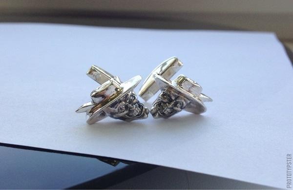 3D-печать для ювелиров: серебряные запонки с героем из любимого фильма - 1