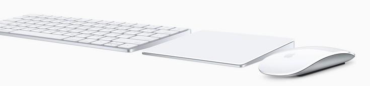 Аксессуары Apple Magic Keyboard, Magic Mouse 2 и Magic Trackpad 2 представлены вместе с новыми моноблоками
