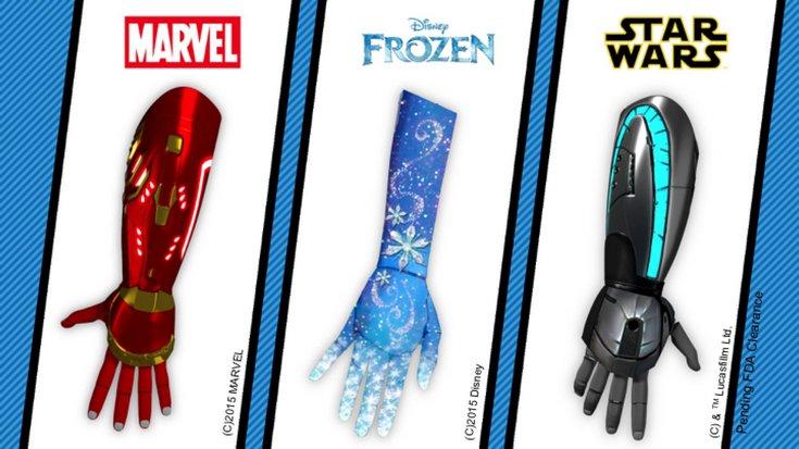 Протезы по мотивам вселенных Star Wars, Iron Man и Frozen должны сделать детей-инвалидов уверенней в себе