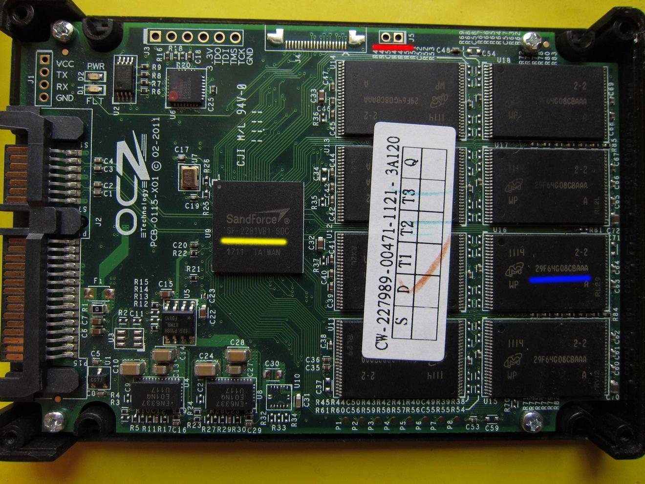Восстановление SSD дисков на контроллере SandForce SF-2XXX - 2