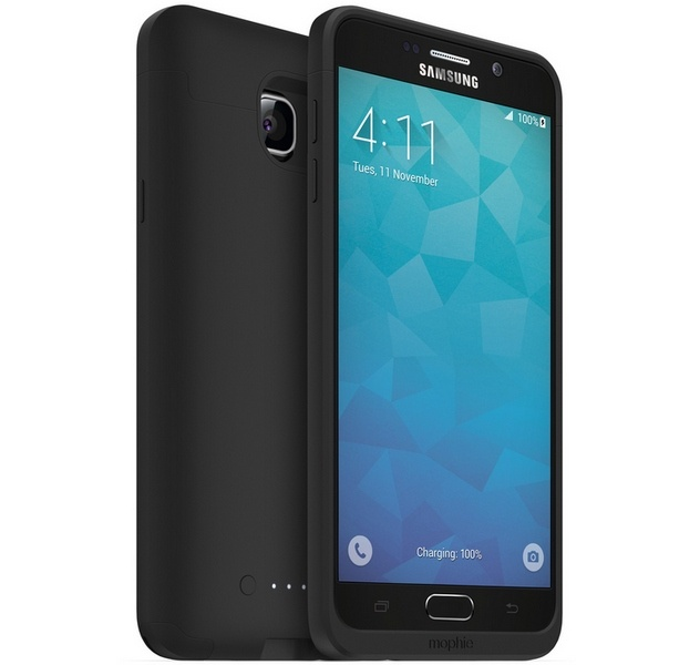 Чехол mophie для смартфона Samsung Galaxy Note5 стоит 100 долларов