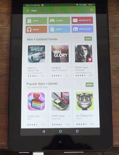 На 50-долларовом планшете Amazon можно запустить Google Play - 1
