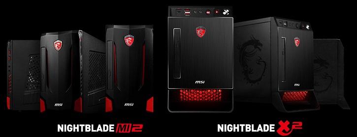 Системы MSI Nightblade X2 и MI2 оборудованы полноразмерными комплектующими