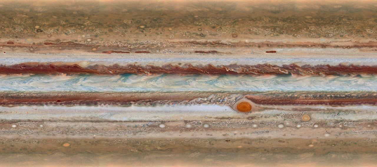 Снимки Юпитера, сделанные телескопом Хаббл, демонстрируют изменения Большого Красного Пятна - 2