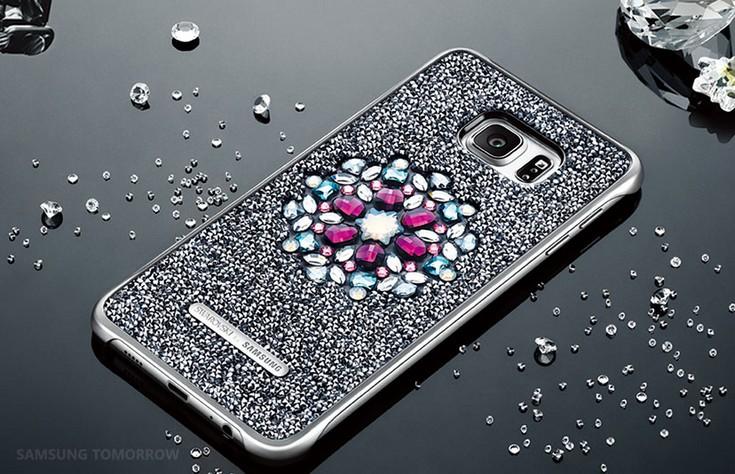 Новые чехлы для смартфонов Samsung Galaxy S6 edge+ и Galaxy Note5 выполнены Montblanc и Сваровски