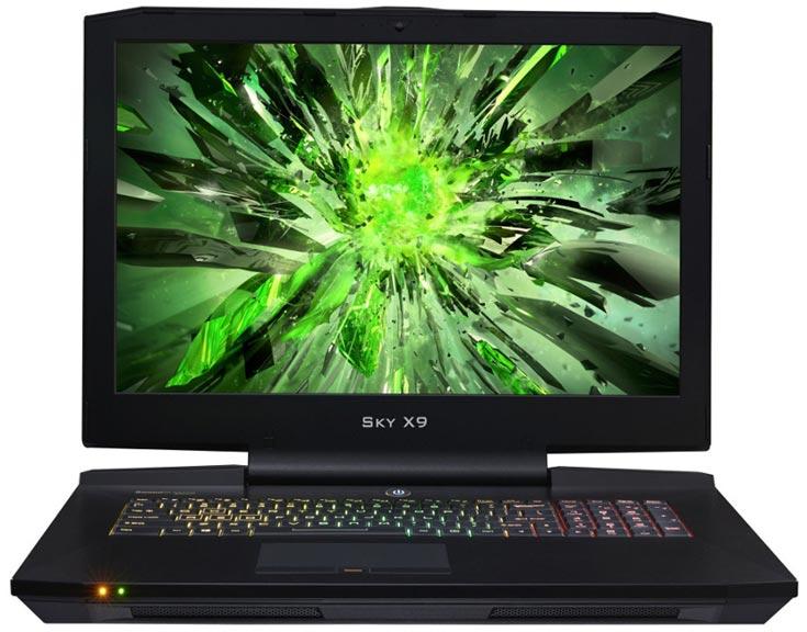Дисплей Sky X9 размером 17,3 дюйма может иметь разрешение 3840 х 2160 пикселей