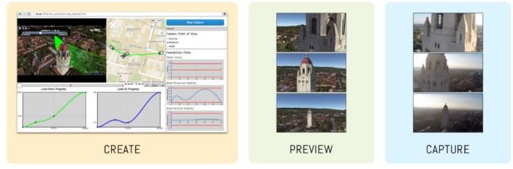 Приложение позволяет операторам изначально спланировать маршрут, по которому полетит дрон