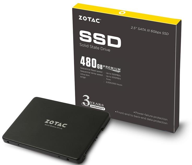 Объем модели ZTSSD-A5P-240G-PE равен 240 ГБ, модели ZTSSD-A5P-480G-PE — 480 ГБ