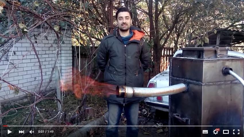 Газ из дров: замена газа в котле + электричество. 1кг=2.2м3 газа или 1кг=1кВт*час при получении электроэнергии - 1