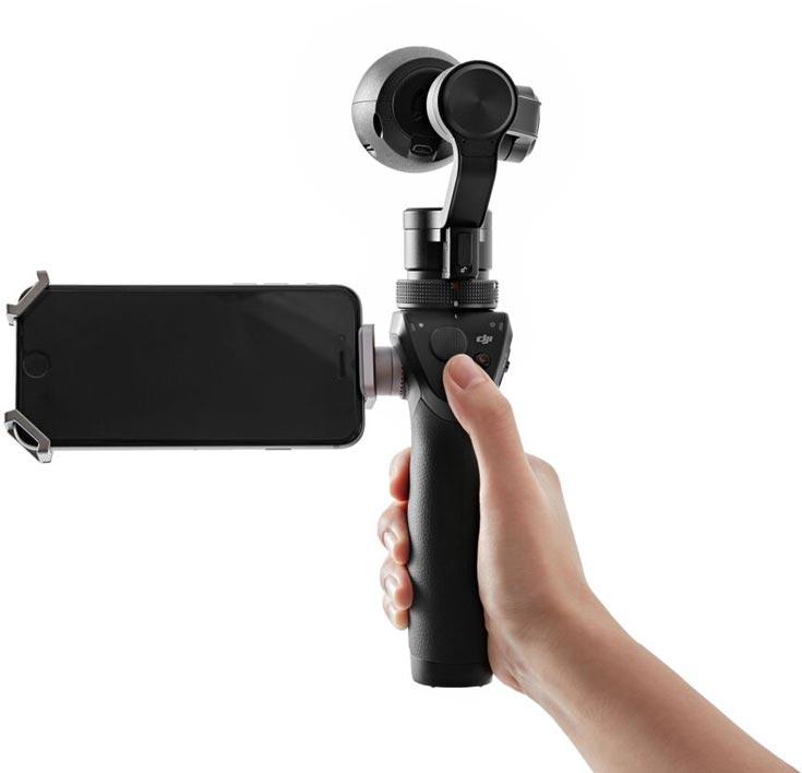 Камера DJI Osmo оснащена интерфейсом Wi-Fi