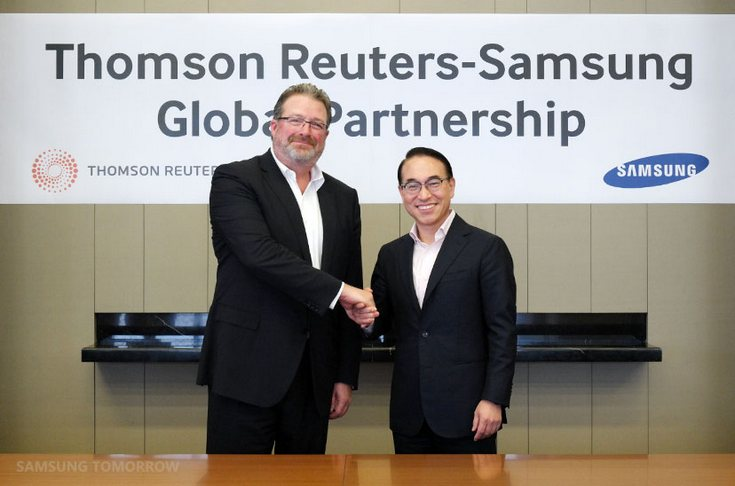 Samsung объявила о сотрудничестве с Thomson Reuters