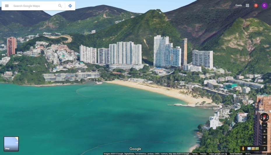 Полет над Гонконгом в 3D: обновление Google Maps - 1