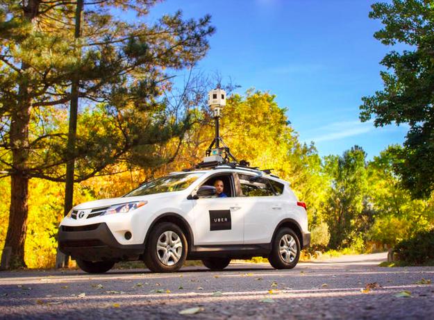 Uber использует автомобили и камеры с углом обзора в 360 градусов для улучшения качества своих сервисов