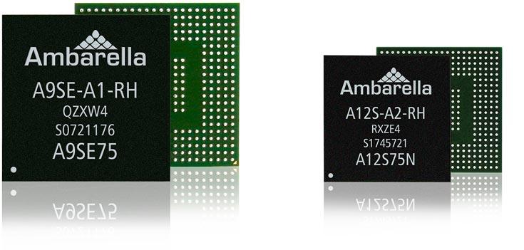 Однокристальные системы Ambarella A12S и A9SE поддерживают разрешение Full HD и 4K Ultra HD